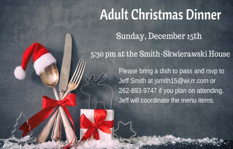 Adult Christmas Dinner